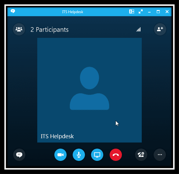 Image displaying an accepted skype call