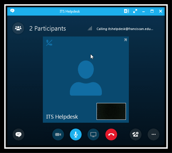 Image displaying a video call