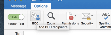 Option to add BCC recipients